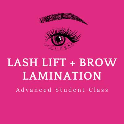 Discounted Lash Lift + Brow Lamination AWSI Grads + Student Body