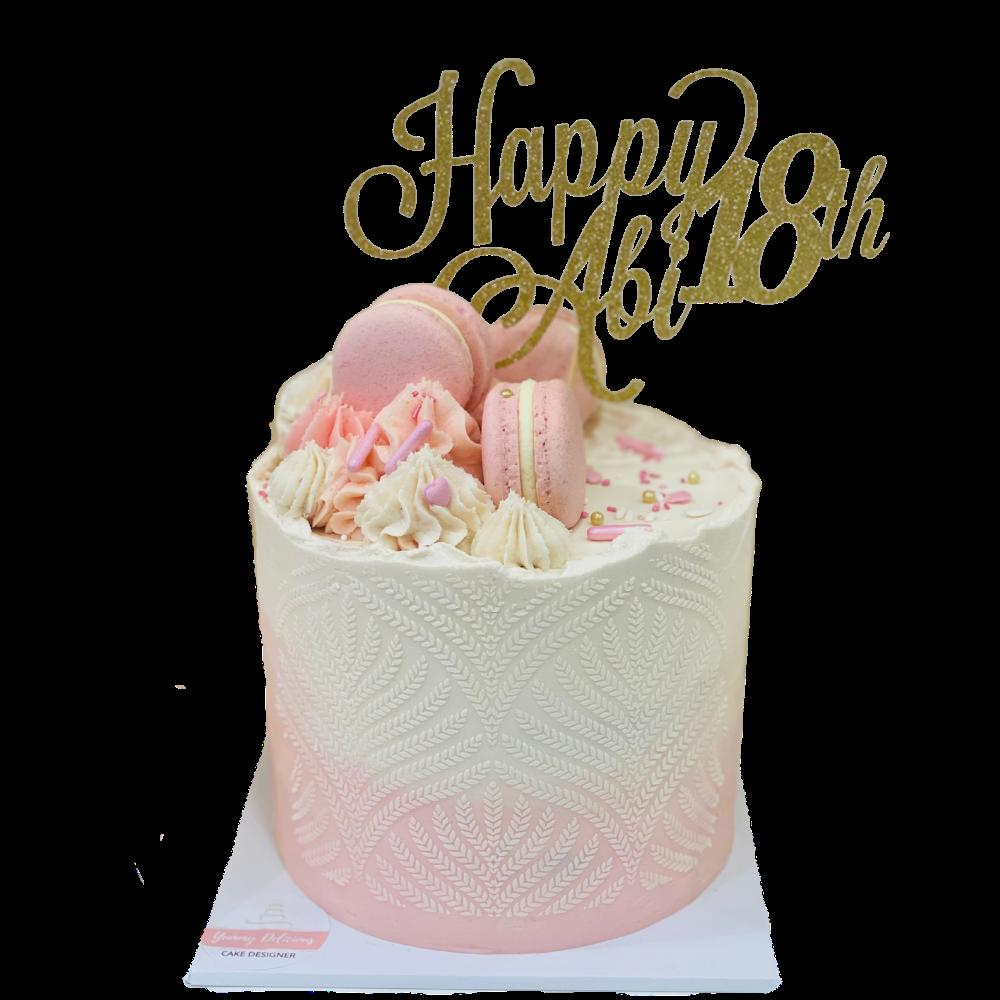 Stencilled Cake