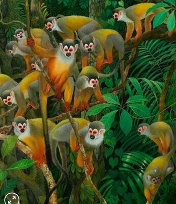 Huasas monkeys crossing (replica)