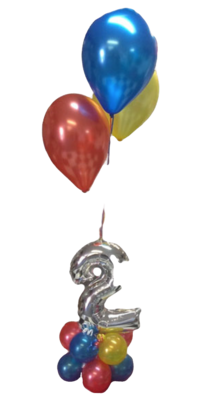 Balloon and 14in Number Centrepiece