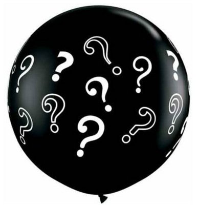 Question Mark Confetti Filled Gender Reveal