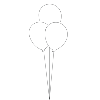 Table Bouquet - 3 Balloons