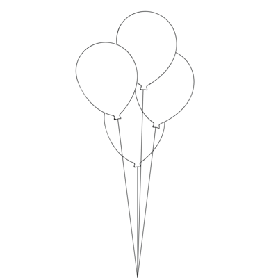 Table Bouquet - 4 Balloons