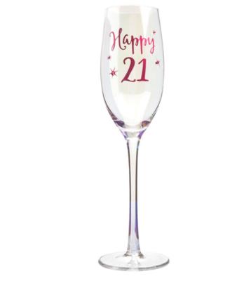 Happy 21st Champagne Glass