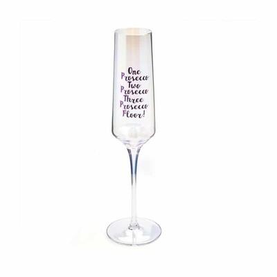 1,2,3 Prosecco Champagne Glass