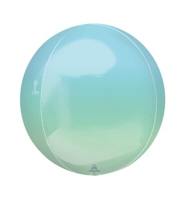 Ombre Blue and Green Orbz 40cm