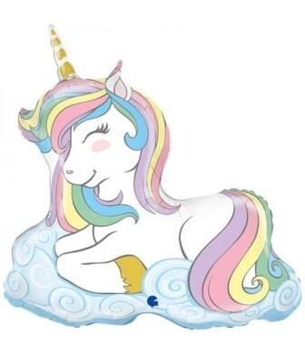 Pastel Unicorn on Cloud Supershape