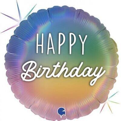 Happy Birthday Foil - Pastel