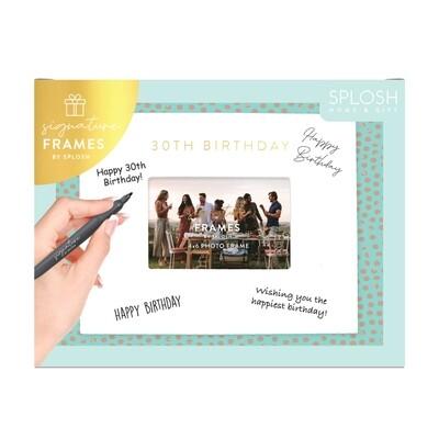30th Birthday Signature Frame