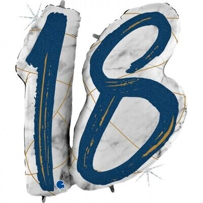 18 - Double Digit Marble Mate Blue