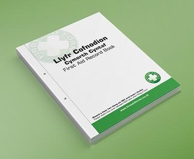 Llyfr Cofnodion Cymorth Cyntaf / Bilingual Welsh-English First Aid Record Book