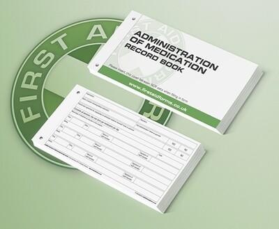 Admin of Medication Record Books