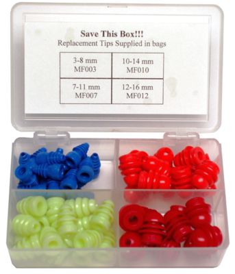 Assorted Multi-Sized Eartips (58/PKG)