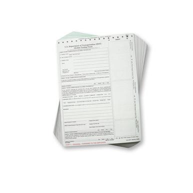 CMI Intoxilyzer Forms, D.O.T. (100/pad)
