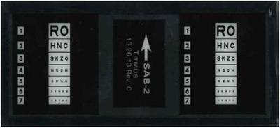 Titmus iSAB-2 Slide, Sloan Letters