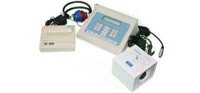 Ambco 2500 Storage Audiometer with Seiko DPU414 Printer and Oto-Chek Biological Test Simulator (call us for pricing)