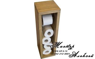 Подставка из дерева для туалетной бумаги