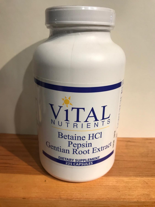 Betaine HC1 Pepsin Gentian Root Extract