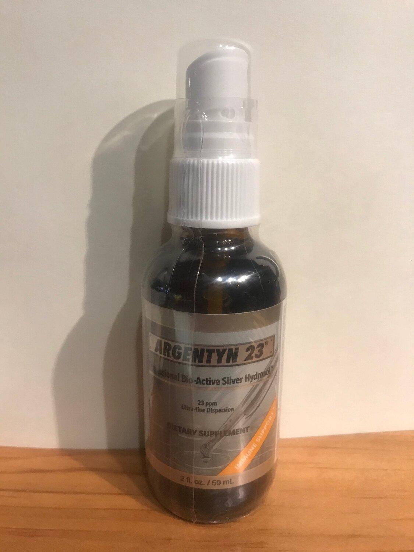 Argentyn 23 Silver Hydrosol 2oz Straight Spray
