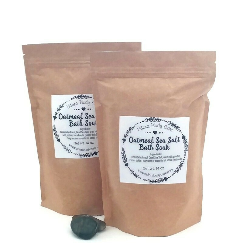 New Oatmeal Sea Salt Bath Soak~Skin Care~14 oz