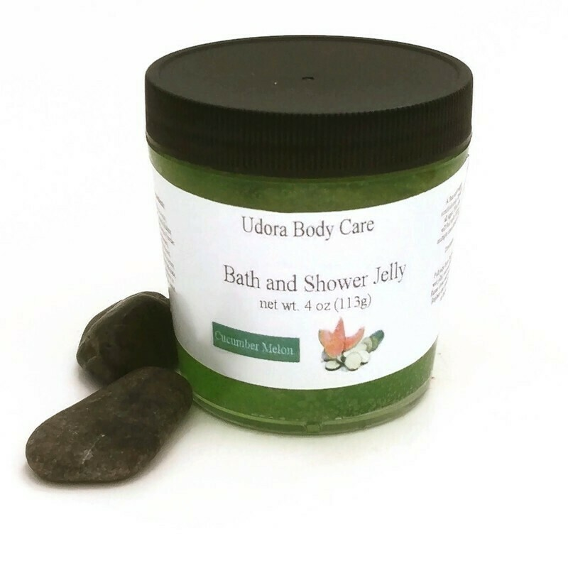 Cucumber Melon Bath and Shower Jelly Soap 4 oz