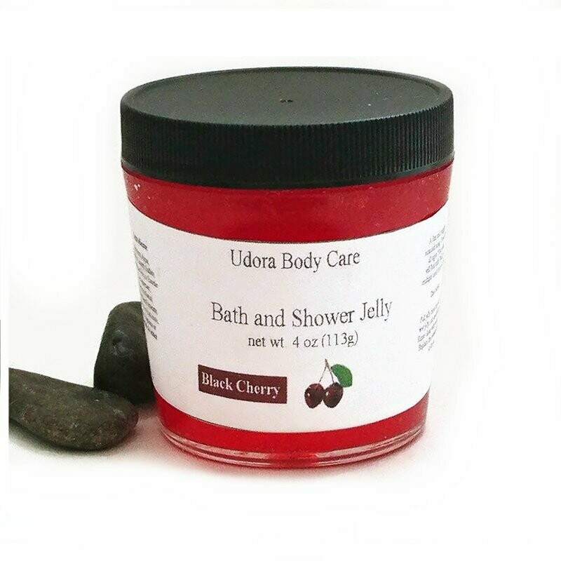 Black Cherry Bath and Shower Jelly Soap 4 oz