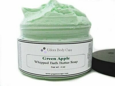 Green Apple Mousse Whipped Bath Butter Soap 4 oz