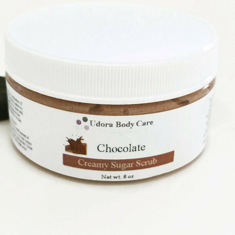 Chocolate Creamy Sugar Scrub 8 oz ~Body Scrub