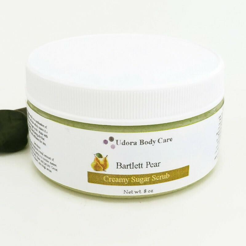 Bartlett Pear Creamy Sugar Scrub 8 oz ~Body Scrub