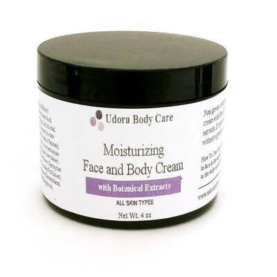CLEARANCE Moisturizing Face and Body Cream 4 oz