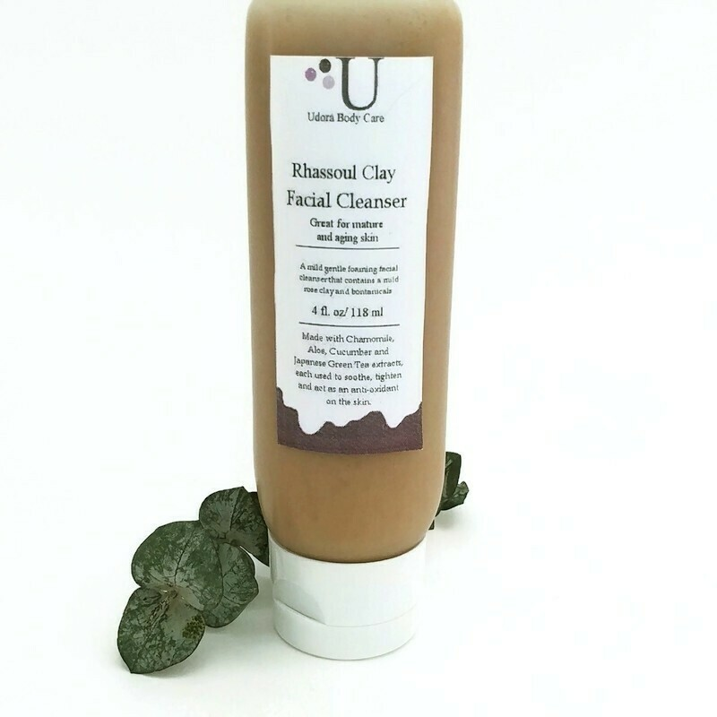 Rhassoul Botanical Clay Facial Cleanser 4 oz~ Skin Care