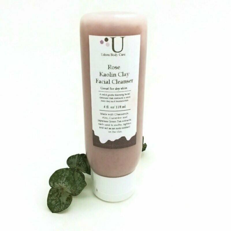 Rose Kaolin Clay Botanical  Facial Cleanser 4 oz ~Skin Care