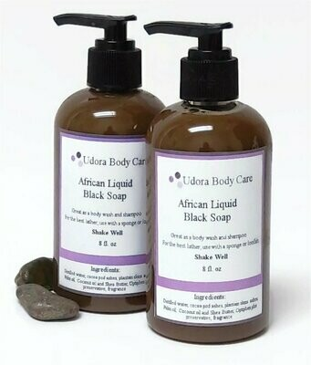New Rich African Liquid Black Soap 8 oz- Body Care~Skincare