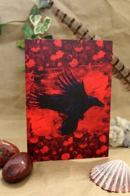 Raven Greetings Card