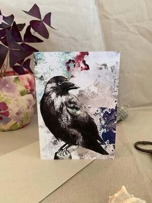 Jackdaw Greetings Card