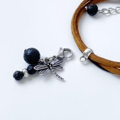 Charm Armband - Lava + Leder