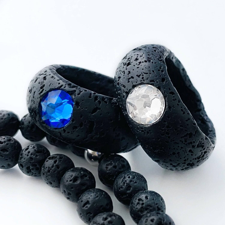 Lava + Kristall Ring