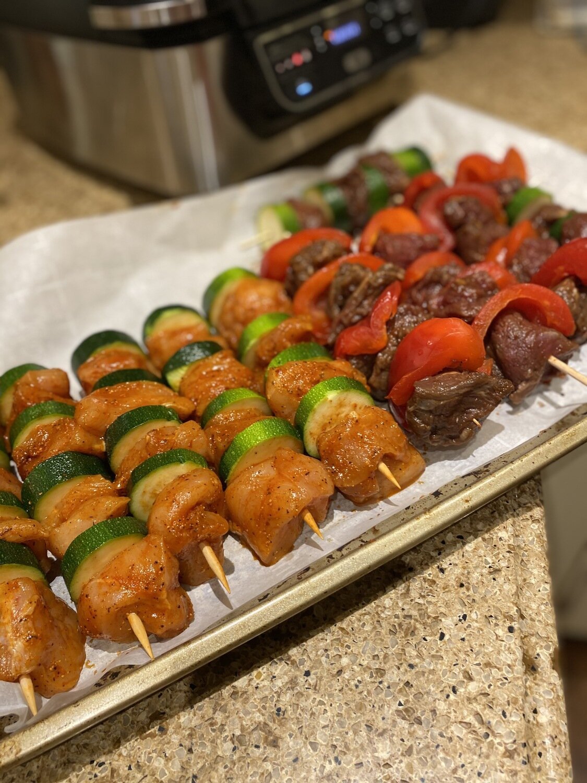 Chicken and Beef Shish Kebab Kit