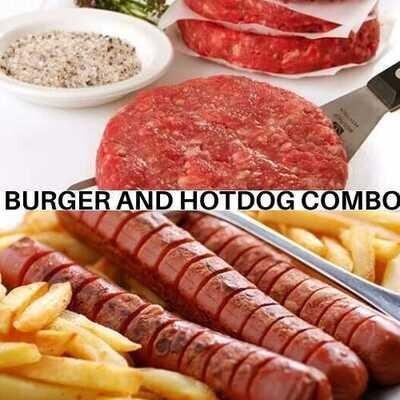 Burger and Hot Dog Combo