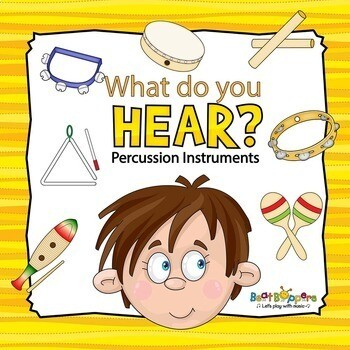 Printable Listening Game for Children - Percussion Instruments