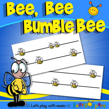 Bee Bee Bumblebee Song and Kodaly Pitch Charts | Name Game