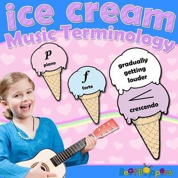 Music Terminology Set - Ice Cream Cones