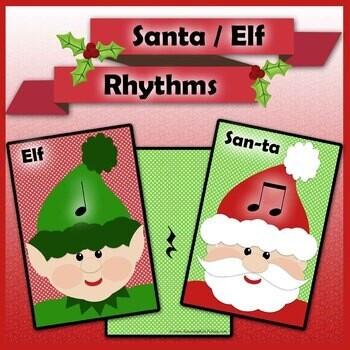 Christmas Rhythms - Santa / Elf Music Cards