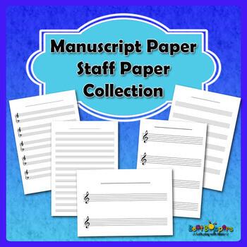 Free Manuscript Paper / Staff Paper Collection - US Letter Size
