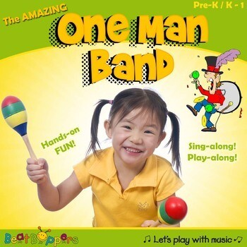 Rhythm Instrument Song for Young Children | One Man Band