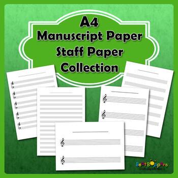 Free Manuscript Paper / Staff Paper Collection - A4 Size