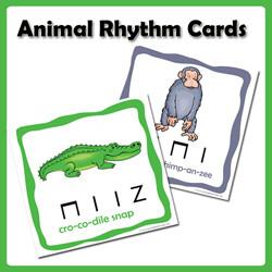 Jungle Animal Song and Rhythm Cards