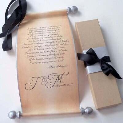 Personalized Scroll & Gift Box