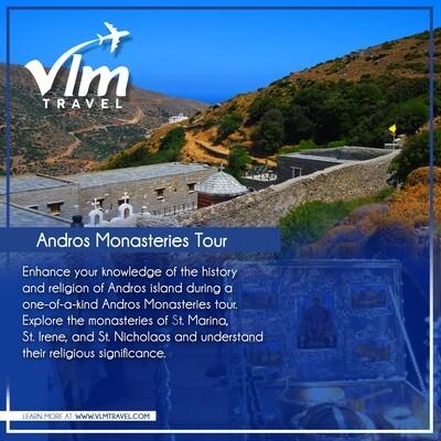 Andros monasteries sightseeing tour