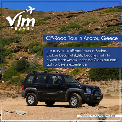 Vitali beach tour in Andros